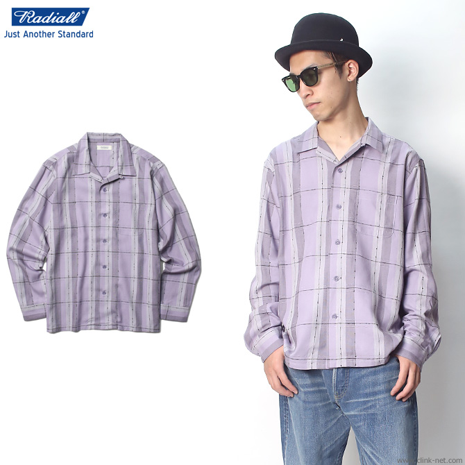 【RADIALL/ラディアル】RADIALL ROCK STEADY - OPEN COLLARED SHIRT L/S (PURPLE)