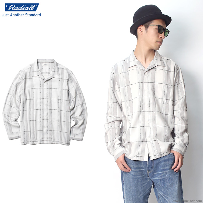 【RADIALL/ラディアル】RADIALL ROCK STEADY - OPEN COLLARED SHIRT L/S (SNOW WHITE)