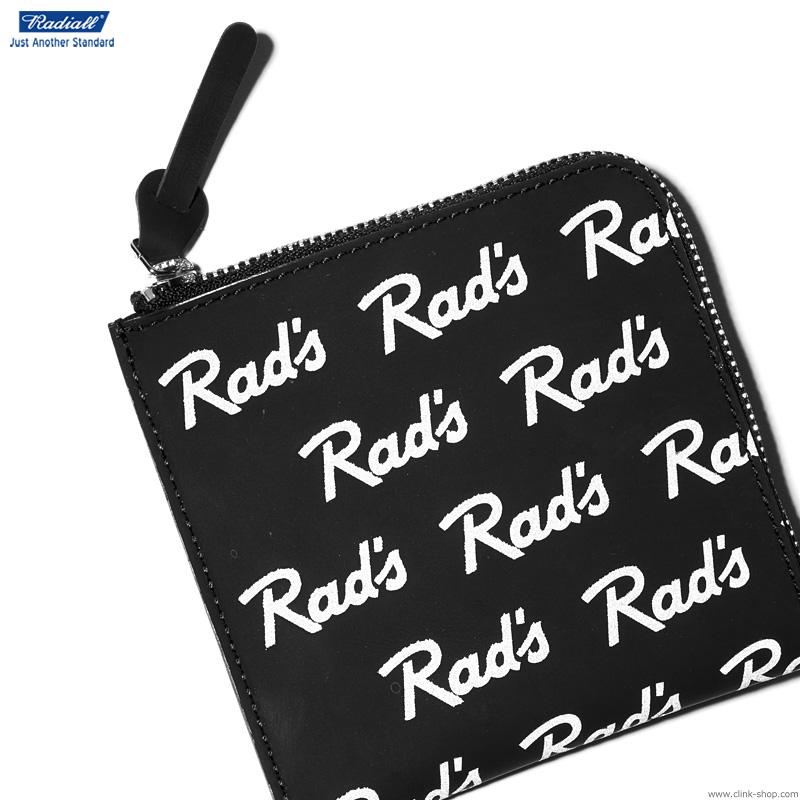【RADIALL】 ラディアル RADIALL RAD'S - ZIP SQUARE WALLET (BLACK) メンズ アクセサリー ウォレット 財布