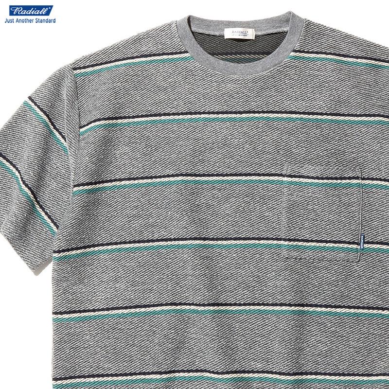 【RADIALL】 ラディアル RADIALL SKUNK - CREW NECK POCKET T-SHIRT S/S (GRAY) メンズ Tシャツ 半袖 ボーダー