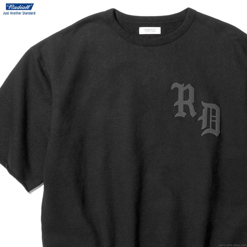 【RADIALL】 ラディアル RADIALL CRUISE - CREW NECK SWEAT SHIRT S/S (BLACK) メンズ トップス スウェット クルーネック