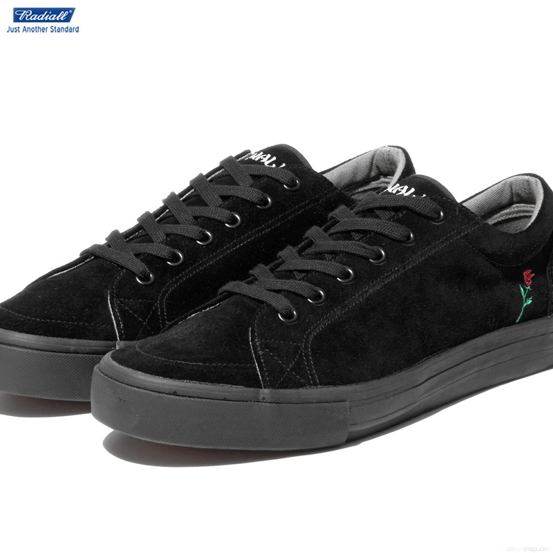 【RADIALL】 ラディアル RADIALL CONQUISTA-LOW TOP SNEAKER (BLACK) メンズ スニーカー