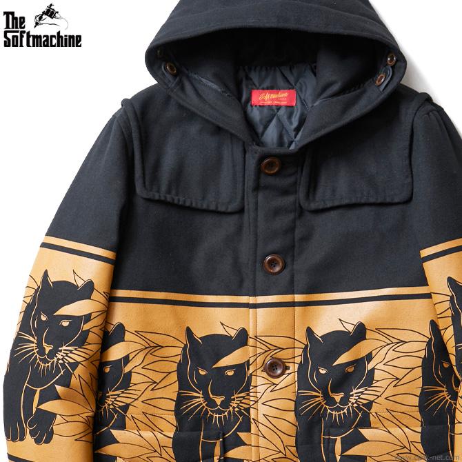 【SOFTMACHINE】 ソフトマシーン SOFTMACHINE PANTHER COAT (BLACK) メンズ ジャケット アウター コート ブラック