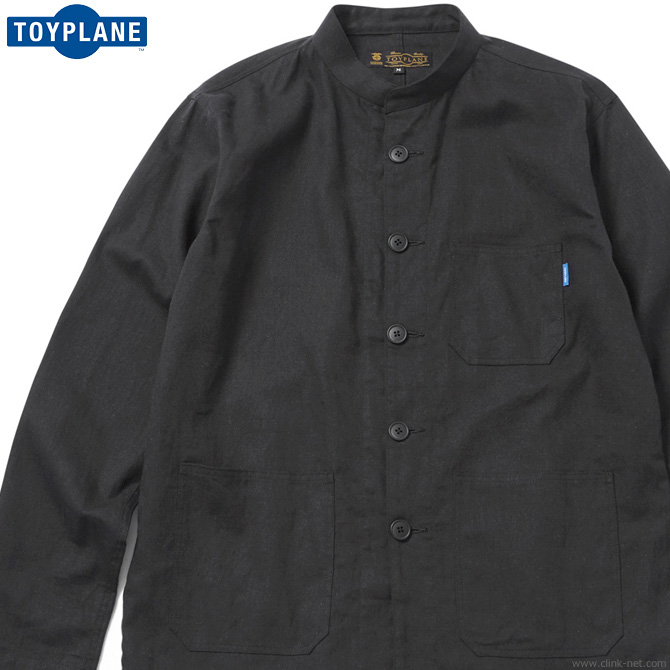 SALE 50%OFF TOYPLANE BAND COLLAR COVERALL JACKET (BLACK) [TP17-FSH02] トイプレーン 最大半額スーパーセール!期間・数量限定セール