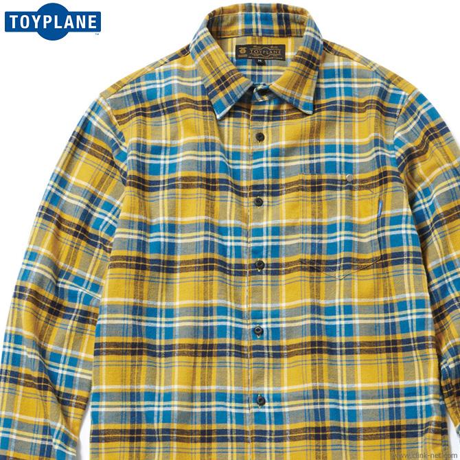 【TOYPLANE】 トイプレーン TOYPLANE CHECK FLANNEL SHIRT (YELLOW) [TP17-FSH03] メンズ トップス シャツ 長袖 イエロー