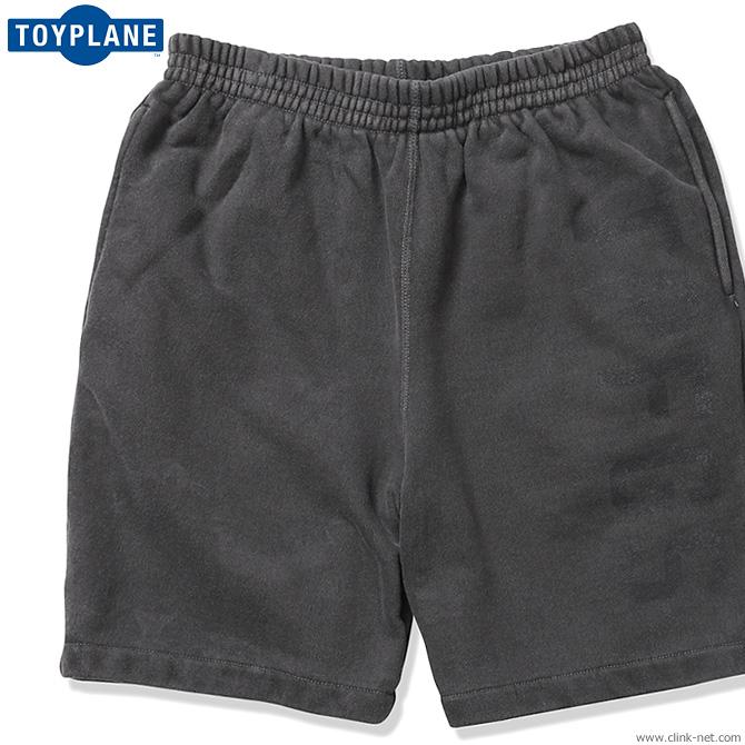 【TOYPLANE】 トイプレーン TOYPLANE PIGMENT DYE SWEAT SHORTS (BLACK) [TP19-NPT01] メンズ ボトムス パンツ ショート ブラック