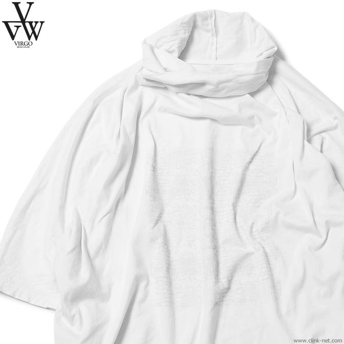 【VIRGO】 ヴァルゴ VIRGO HIDDEN VG PONCHO (WHITE) [VG-CUT-390] メンズ Tシャツ タンクトップ ホワイト