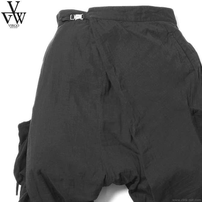 VIRGO CREST CARGO 19 (BLACK) [VG-PT-228] ヴァルゴ パンツ