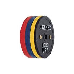 競技仕様キャリブレーション 重量校正式オリンピックプレート ウェイトプレート IVANKO 全商品オープニング価格  取扱 OCBラバーウェイトリフティングオリンピックプレート Seasonal Wrap入荷 15kg