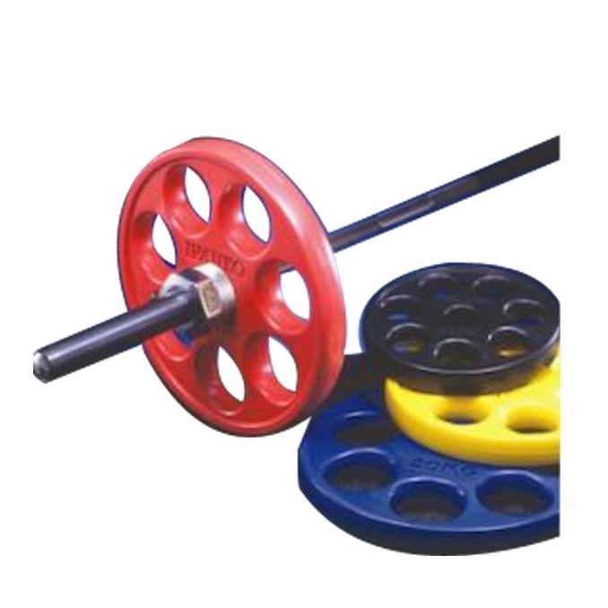 [ウェイトプレート]IVANKO ROEZHC オリンピックラバーイージーグリッププレート(カラータイプ)15kg(黄)【取扱】
