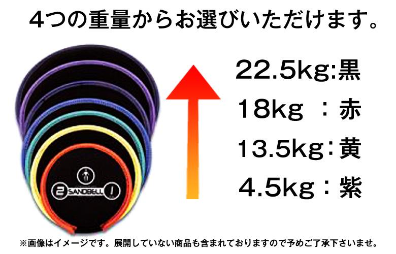 4つの重量から選べます。