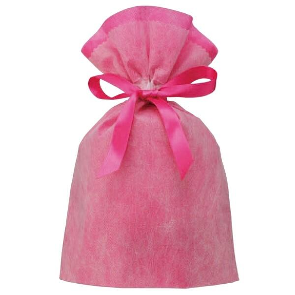 ラッピングバッグ 不織布 Wシャンテタイプ L AL完売しました 無地 メール便発送 ピンク 好評 1000円以上お買い上げで送料無料 -