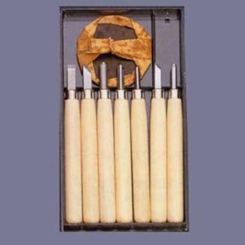 サービス 義春刃物 マルイチ彫刻刀 R-7 プラケース7本組 メール便発送 送料無料 日本製 -