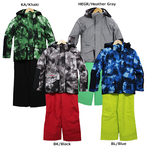 スキーウェア 旧モデル PHENIX フェニックス ジュニア Camouflage Boy's Two-Piece PS8G22P82 サイズ調整機能付き 130-170cm 子供用 上下セット