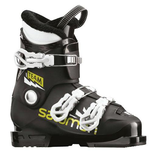 【エントリーでP2倍 6/11 01:59まで 39ショップ限定】スキーブーツ SALOMON サロモン スキー ブーツ TEAM T3 / Black/Acid Green/White ジュニア 子供用こども キッズ 19-20モデル