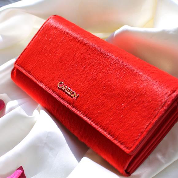 36809806a9a565 楽天市場】長財布【鮮やかな赤で、ぐっと魅力的な女性へ。高級ポニーヘア ...