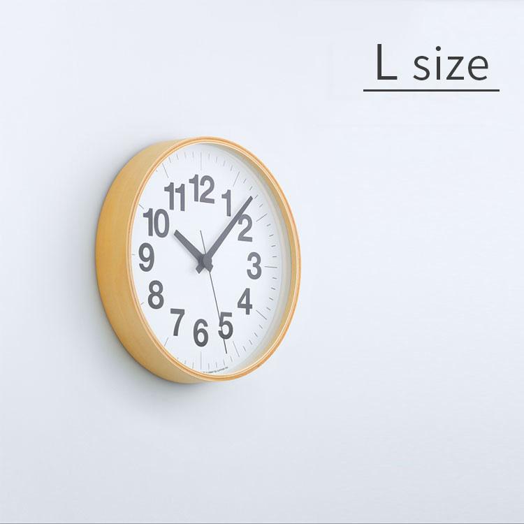 掛け時計 ナンバーの時計 Lサイズ Lemnos[レムノス] YK16-03 L【スイープムーブメント スイープセコンド 壁掛け時計 時計 壁掛け プライウッド ビンテージ ナチュラル 北欧 デザイナーズ かわいい おしゃれ インテリア 木製 新築 出産 ウォールクロック 新生活 結婚祝い】
