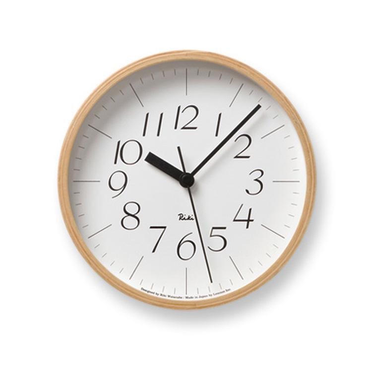 壁掛けフック特典有★掛け時計 RIKI CLOCK リキクロック WR-0312s【壁掛け時計 時計 壁掛け 壁 インテリア レトロ 北欧 渡辺力 デザイナーズ デザイン 和モダン おしゃれ シンプル 小さい 小さめ 見やすい スイープムーブメント ウォールクロック ギフト】
