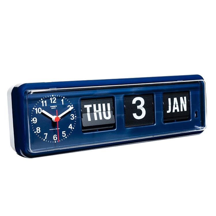 置き時計 トゥエンコ デジタルカレンダー【TWEMCO 置時計 卓上カレンダー デジタル時計 雑貨 インテリア カレンダー おしゃれ シンプル かわいい レトロ プレゼント ギフト 新生活】