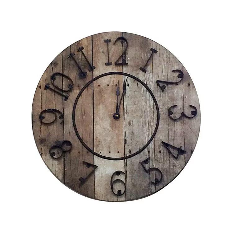 【送料無料・一部地域を除く】壁掛けフック特典有★掛け時計 バレルクロック[Barrel Clock] 【マグネット社 時計 壁掛け時計 掛時計 おしゃれ 木 北欧 アンティーク レトロ インテリア 掛け時計 寝室 リビング ダイニング ウォールクロック 結婚祝い】