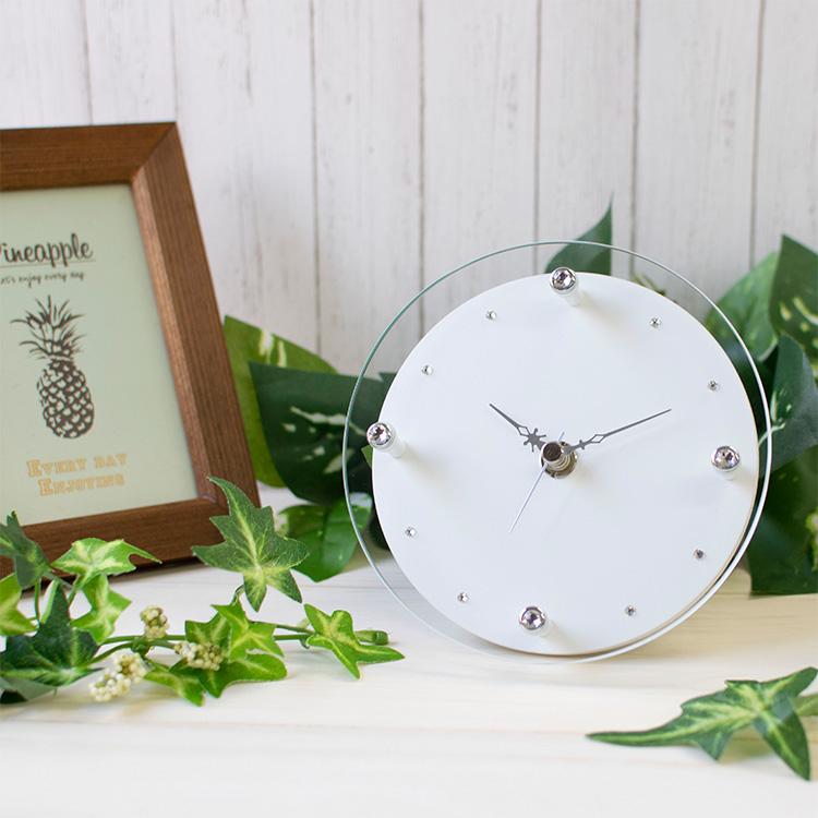 MAGテーブルクロック 時計 クロック 高い素材 置き時計 おしゃれ アナログ ラインストーン 在宅 テレワーク 在宅勤務 飾り針 プレゼント 置掛両用 掛け時計 人気上昇中