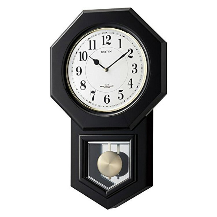 【送料無料】電波時計 振り子時計 リズム時計 アンバリードR 4MNA07RH02【掛け時計 掛時計 時計 壁掛け時計 おしゃれ シンプル 壁掛け電波時計 モダン 壁掛け 和モダン 昭和 レトロ 昭和レトロ シチズン CITIZEN 壁時計 ウォールクロック ギフト】