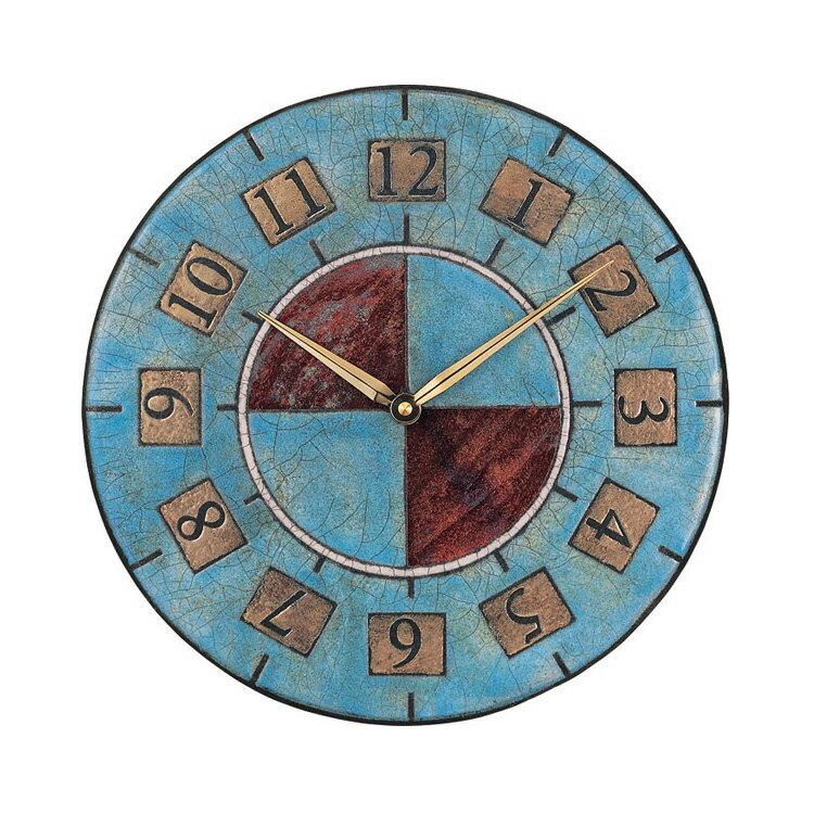 掛け時計 ザッカレラZ5【時計 壁掛け 掛時計 イタリア 陶器 楽焼 壁掛け時計 おしゃれ アンティーク レトロ モダン アート リズム時計 手作り ハンドメイド インテリア ヨーロピアン クラシック ウォールクロック プレゼント 壁時計 新生活 誕生日】