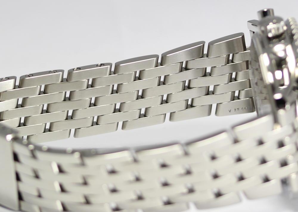 브라이트 링 네비 타이머 A23322 실버 문자판 자동감김 맨즈 손목시계/상자・보증서 붙어 있는