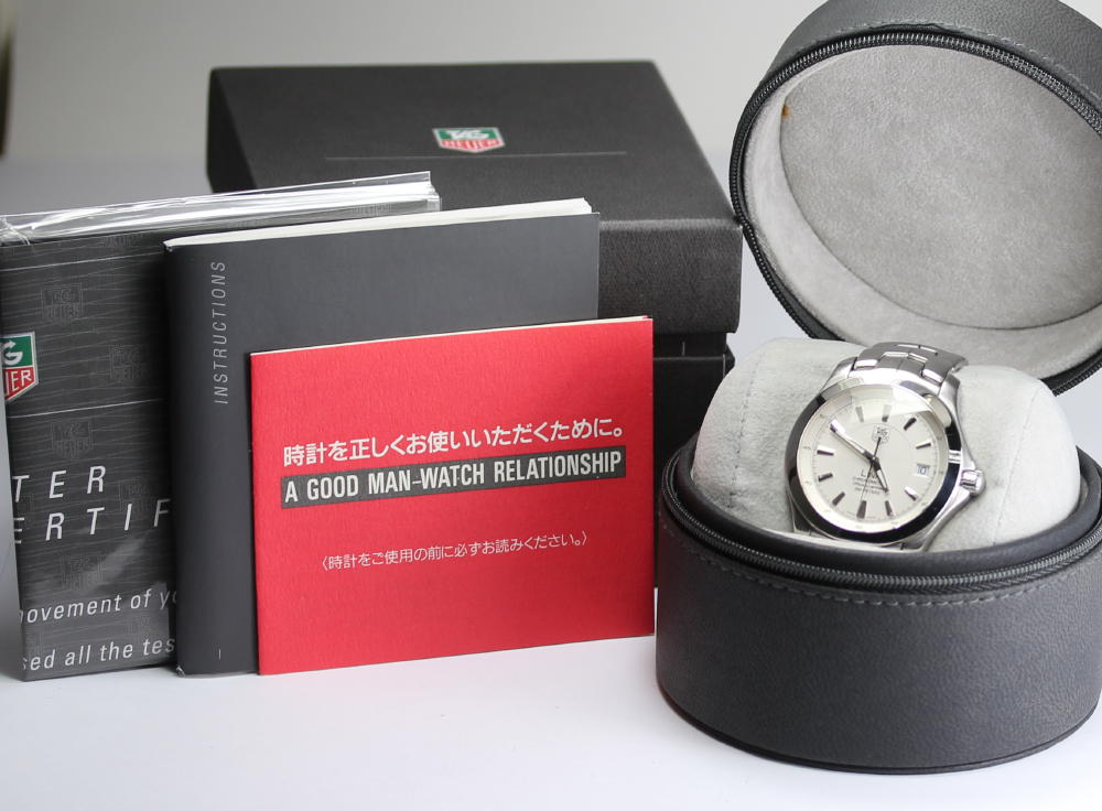 With タグホイヤーリンク WJF5111.BA0570 self-winding watch SS breath men watch box, rest piece
