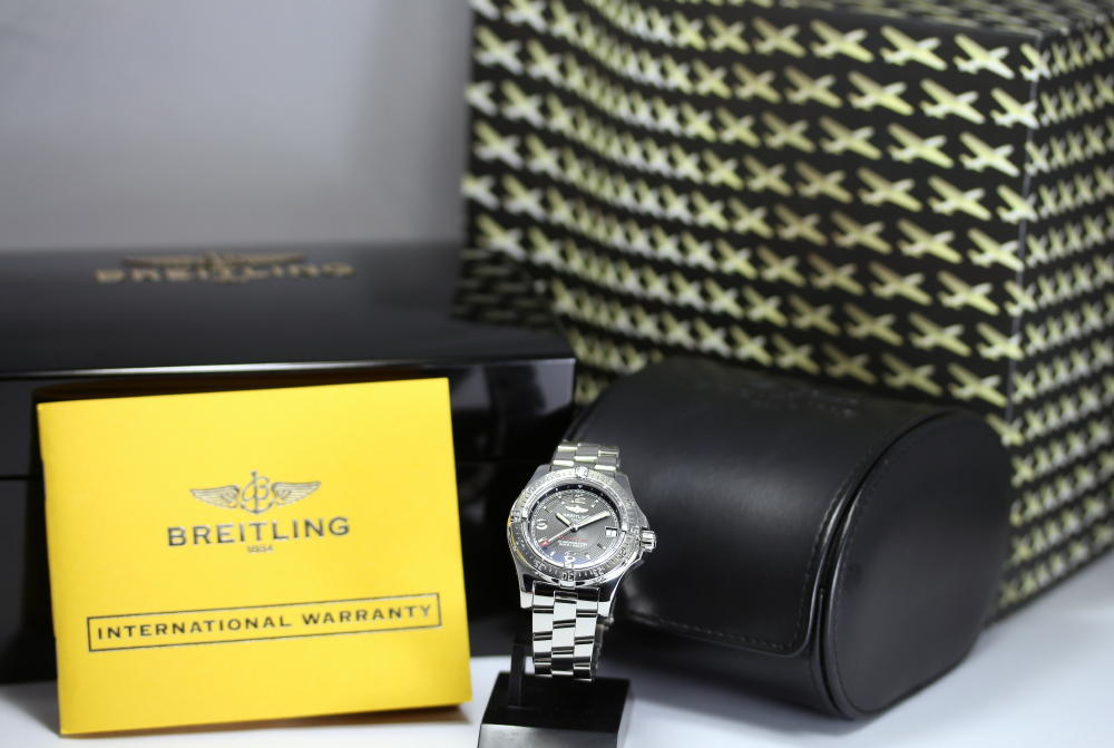 Domestic regular ☆ Breitling coltoceannu A778B85PRS A77380 black dial SS breath quartz ladies watch box, international warranty and other pieces with