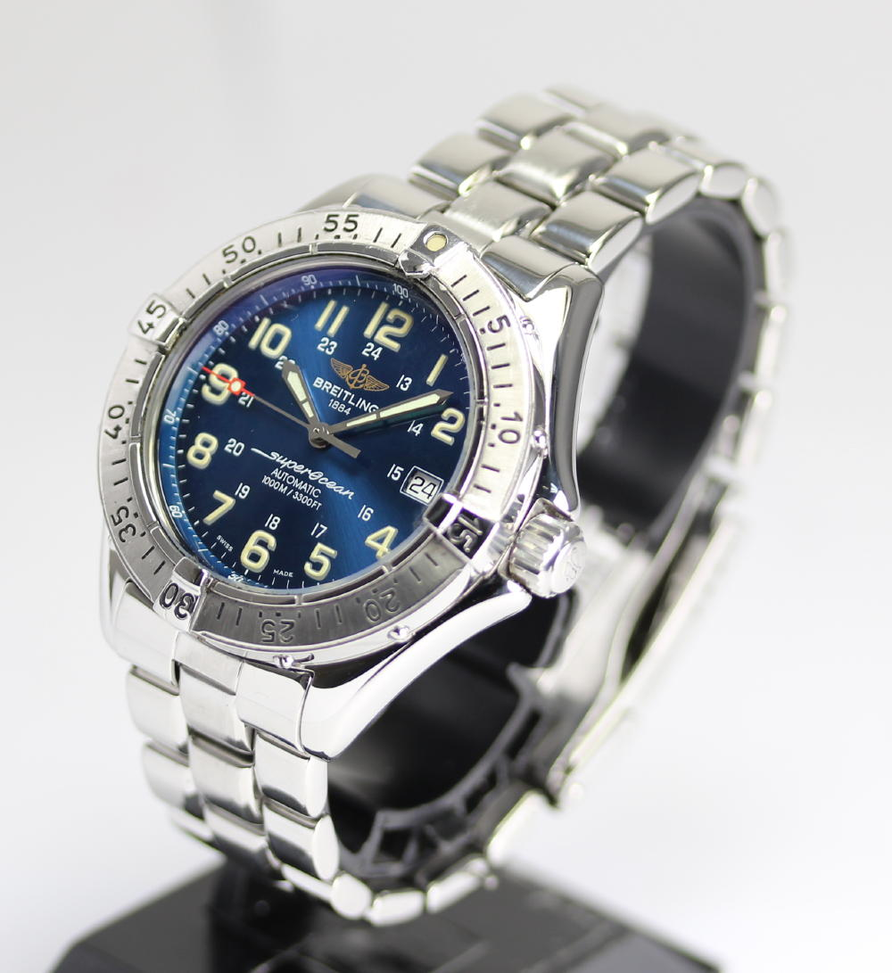 Blight ring Colt supermarket ocean A17040 navy clockface 1000M waterproofing self-winding watch SS breath arm circumference approximately 17.5 centimeters correspondence men's watch