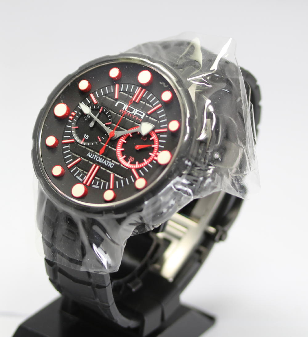 ☆PD160120 with the unused article Noah MM003 3D index self-winding watch chronograph men watch box warranty