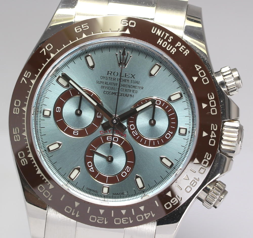 It Is With Rolex Cosmo Graph Daytona Ref 116506 Pt950 Platinum Ice Blue Dial Self Winding Watch Men Watch Guarantee Card