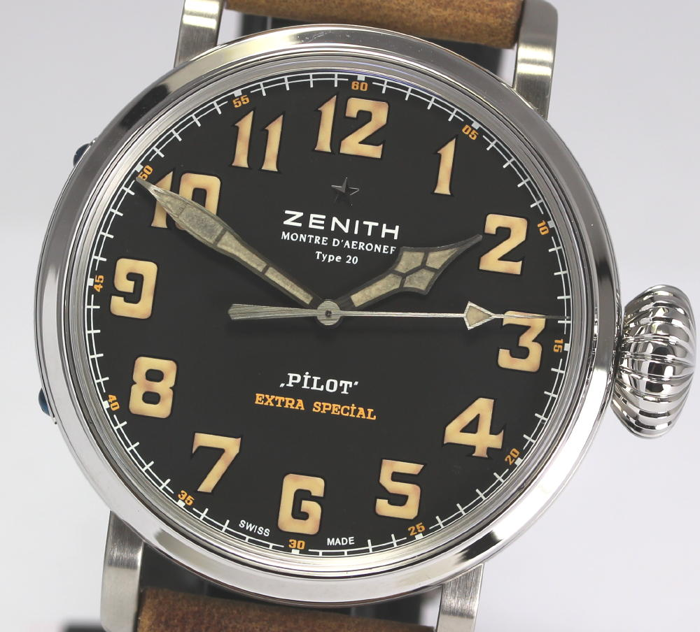 ☆With pilot at 36 limited ☆ Zenith type 20 special edition 03.2431.3000/22.C738 self-winding watch men watch / box