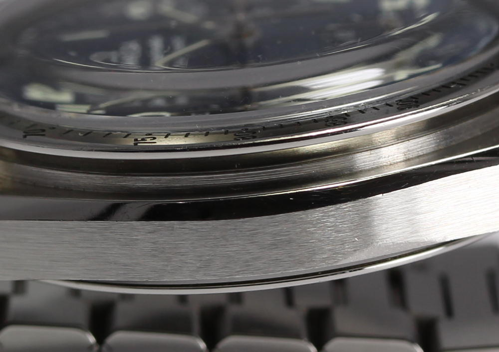 오메가 스피드 마스터 3502.73 블루 쉘 문자판 자동감김 맨즈 손목시계상자・Guarantee 카드・나머지구부