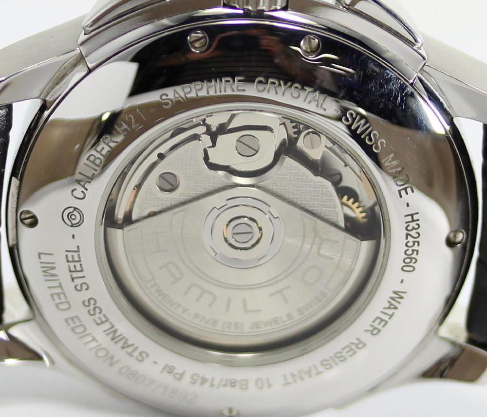 해밀턴 재즈 마스터 스피릿 오브 리버티 H325560 크로노그래프 1892개 한정 자동감김 맨즈 손목시계상자・보증서 첨부