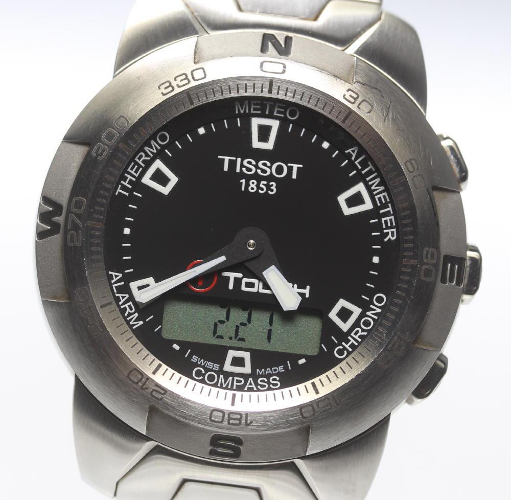 保証書付【TISSOT】ティソ T-タッチ ブラック文字盤 デジタル クォーツ メンズ【2023】【中古】