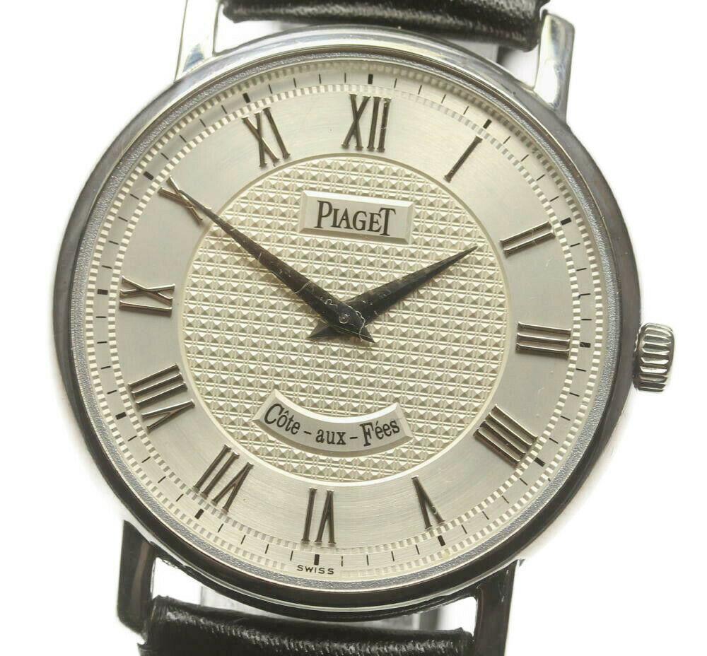☆良品【PIAGET】ピアジェ K18WG メカニック 90035 手巻き メンズ【ev10】【中古】
