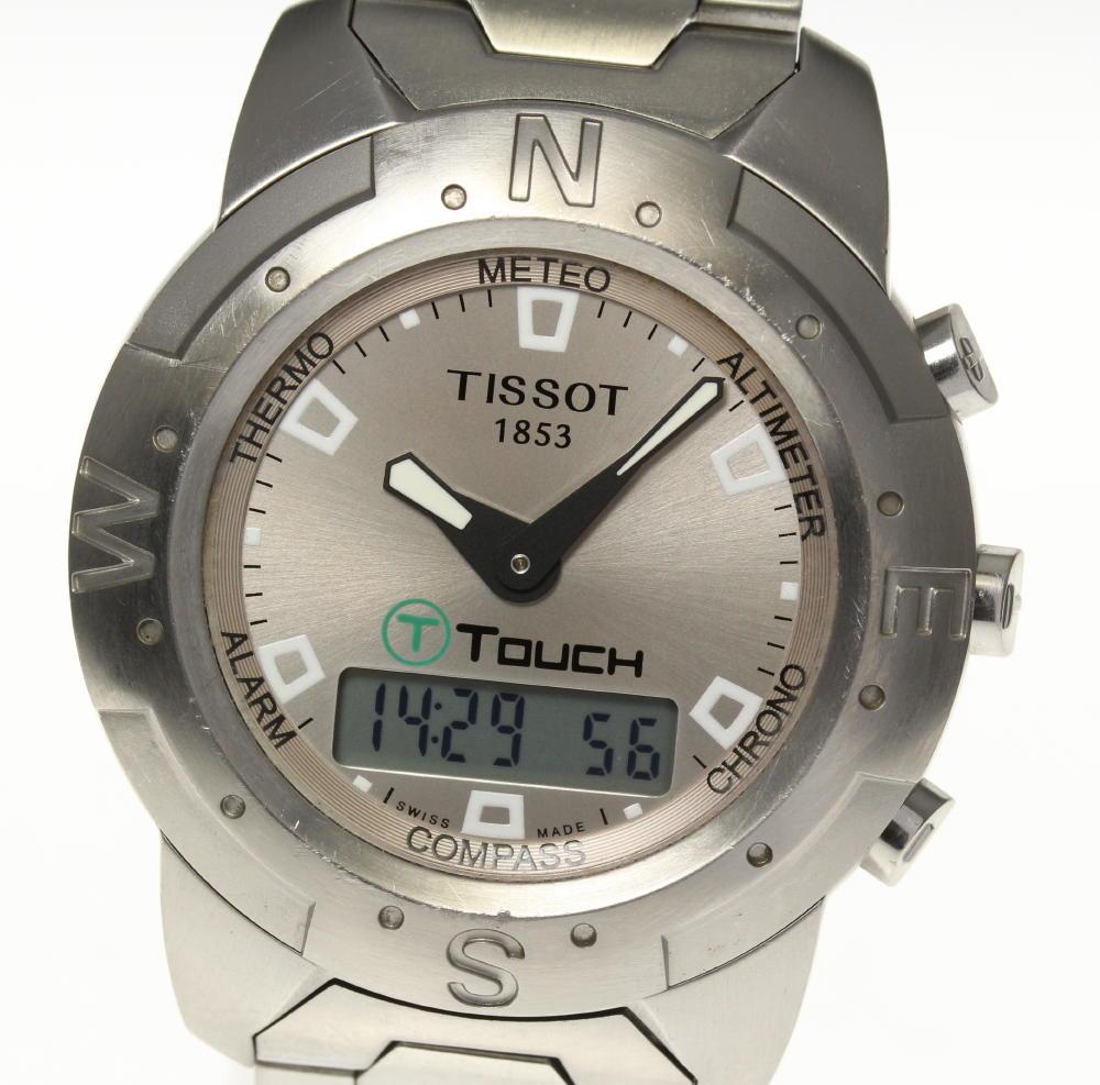 【TISSOT】ティソ Tタッチ Z251/351 デジアナ クォーツ メンズ【2034】【ev10】【中古】