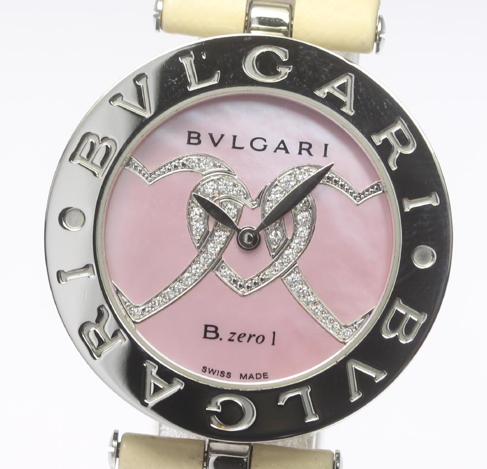 ブランド腕時計専門店CLOSER 15時までの決済で即日発送可能です 在庫数大幅増加中 早い者勝ち☆是非ご利用下さいませ BVLGARI ブルガリ B-ZERO1 販売実績No.1 レディース 男女兼用 中古 ダイヤモンドハート BZ30S クォーツ