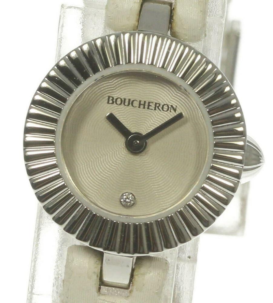 【Boucheron】ブシュロン マジョリー 1Pダイヤ WA012509 クォーツ レディース【ev10】【中古】