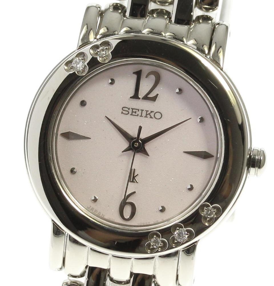 送料0円 ブランド腕時計専門店CLOSER 15時までの決済で即日発送可能です 在庫数大幅増加中 早い者勝ち☆是非ご利用下さいませ ☆美品 SEIKO セイコー クォーツ レディース 初回限定 1N01-0HP0 中古 ルキア