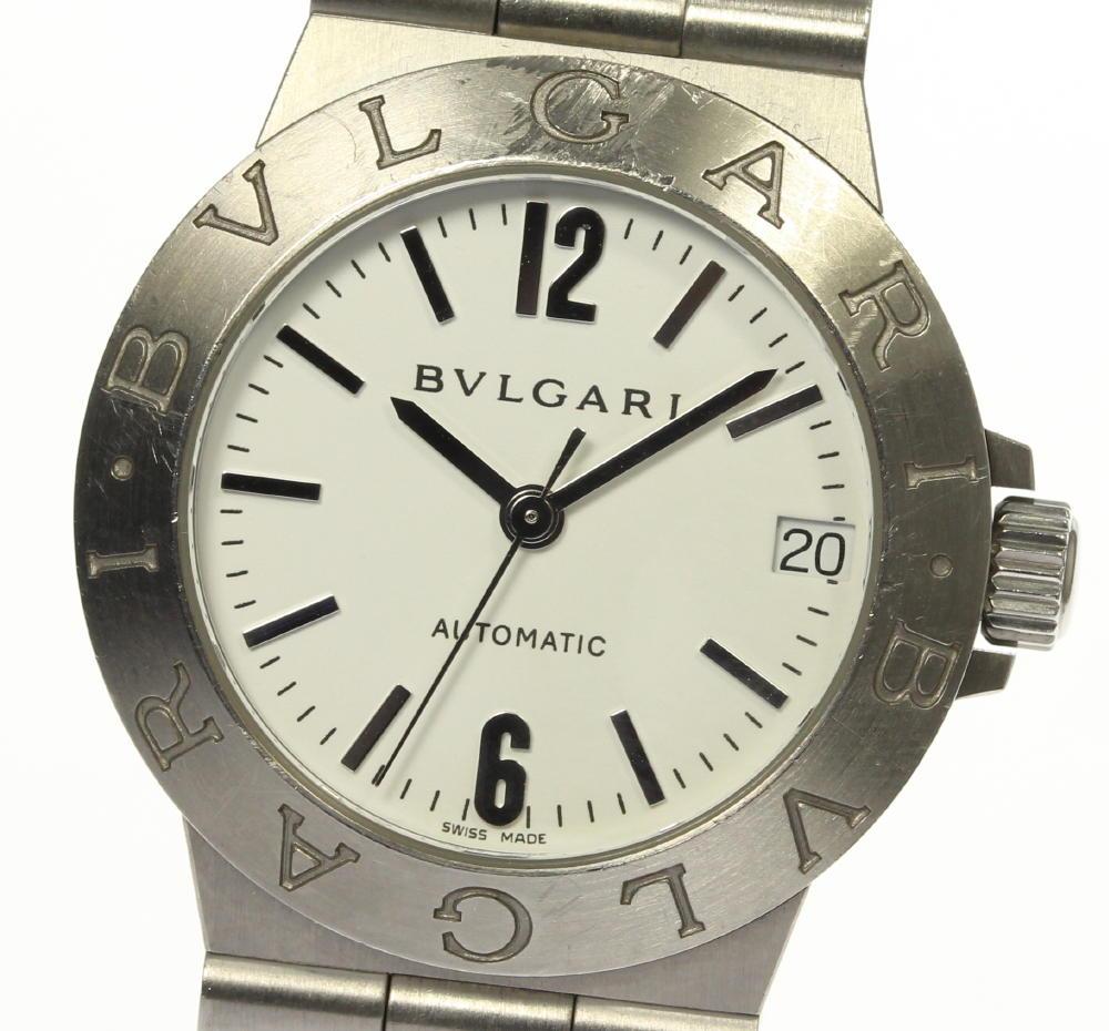 【BVLGARI】ブルガリ ディアゴノ スポーツ デイト LCV29S 自動巻き レディース【ev15】【中古】