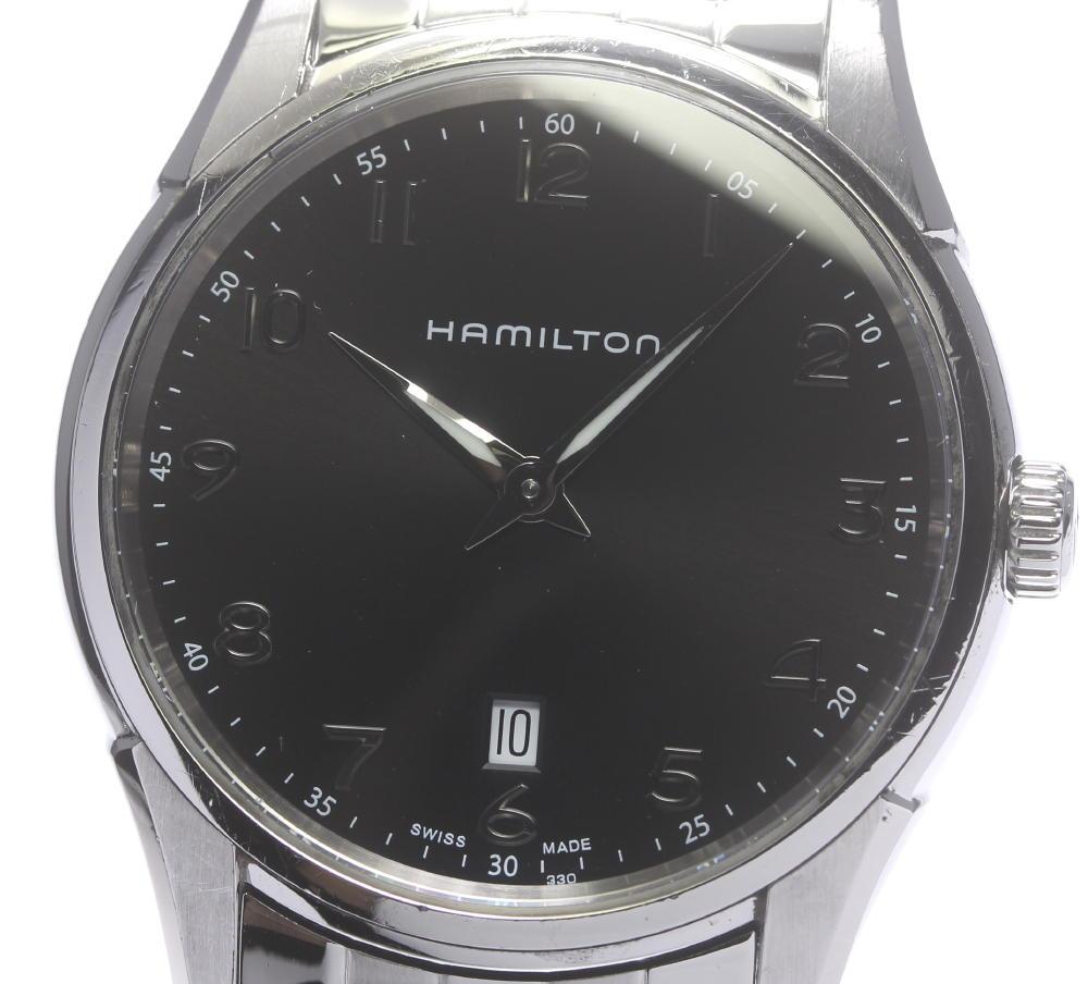 ☆良品 【HAMILTON】ハミルトン ジャズマスター シンライン H385111 クォーツ メンズ