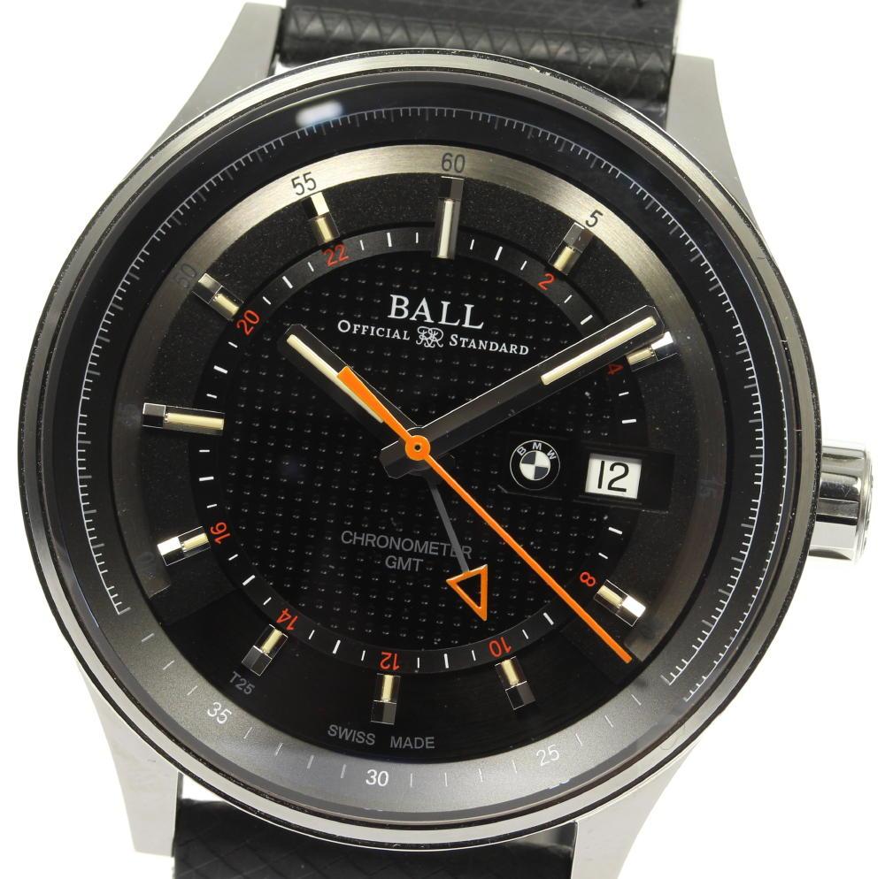 ☆美品 【BALLWATCH】ボールウォッチ BMW GMT GM3010C-PCFJ-SL 自動巻き メンズ