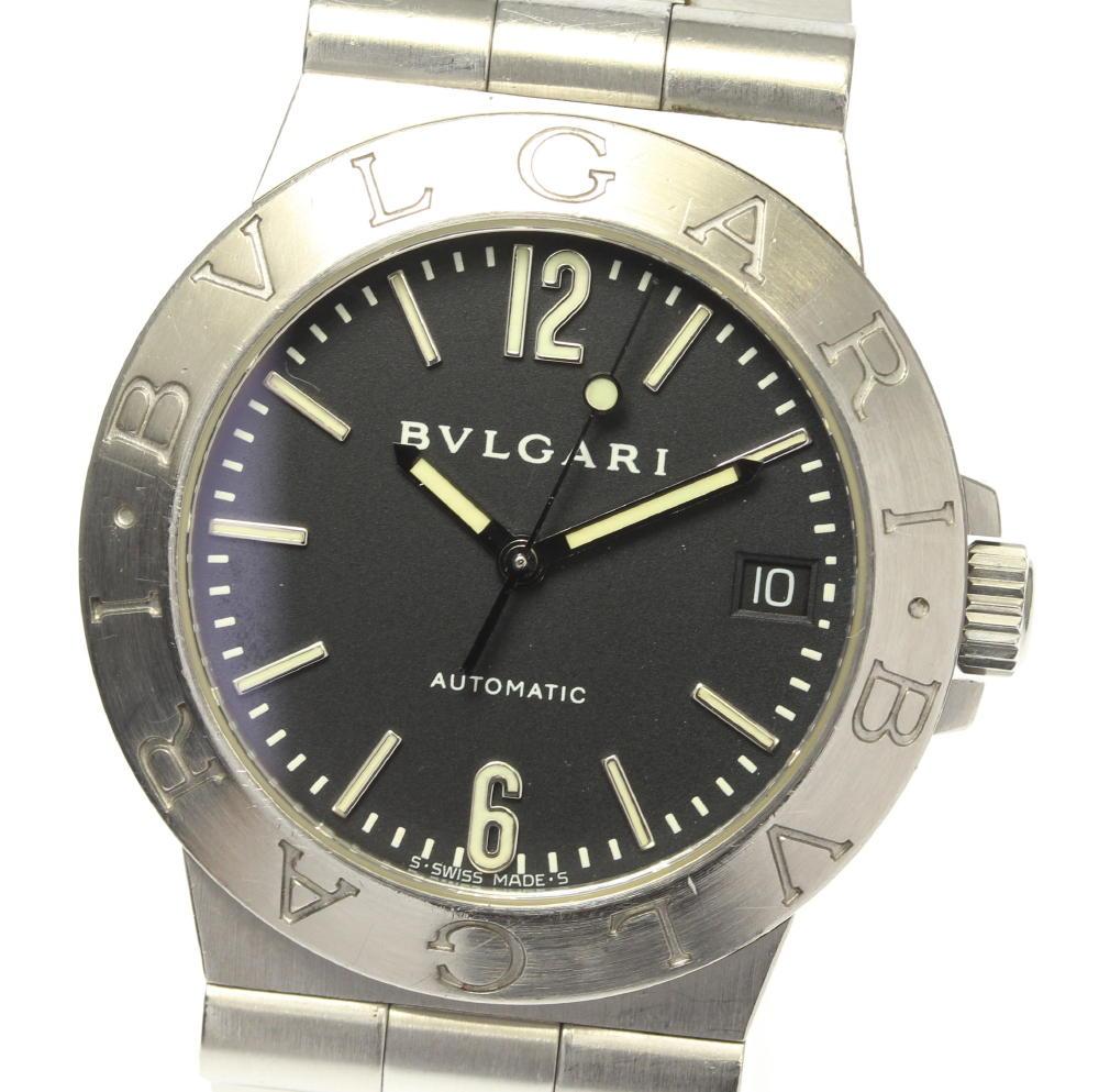 【BVLGARI】ブルガリ ディアゴノ デイト LCV35S 自動巻き メンズ【中古】