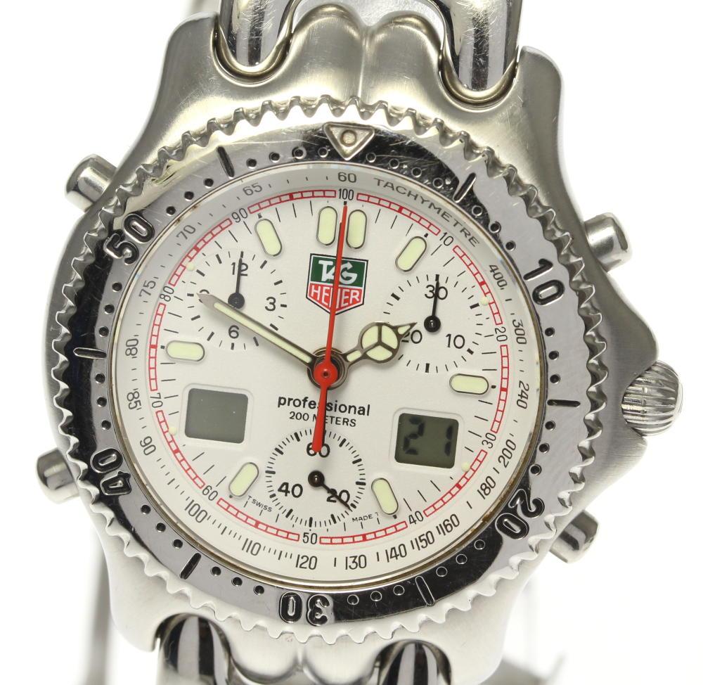 【TAG HEUER】タグホイヤー セル クロノグラフ デイト CG1111-0 クォーツ メンズ