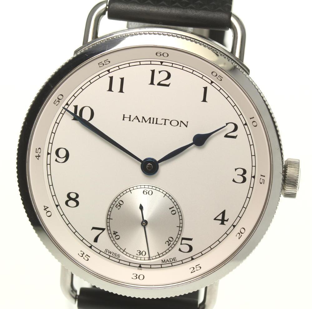 ☆良品 箱付き【HAMILTON】ハミルトン カーキネイビー 世界1892本限定 H787190 手巻き メンズ