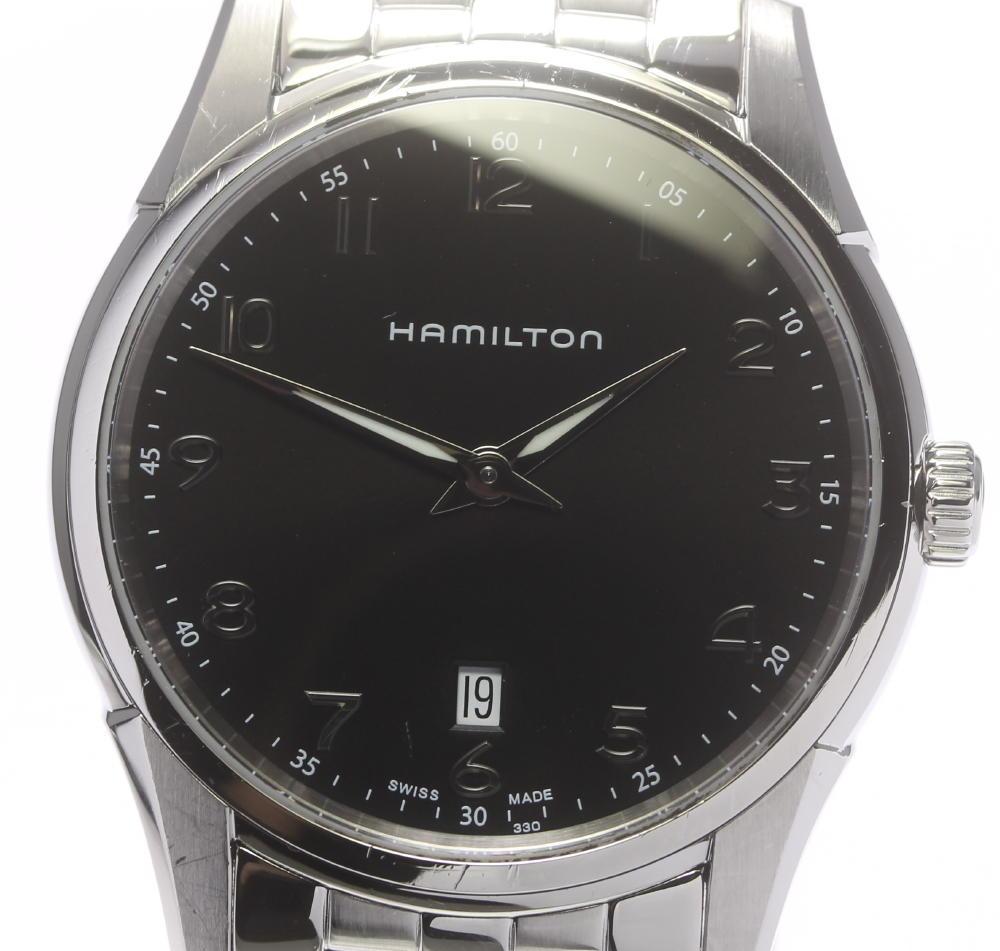 【HAMILTON】ハミルトン ジャズマスター シンライン H385111 クォーツ メンズ★箱・保【ev10】【中古】
