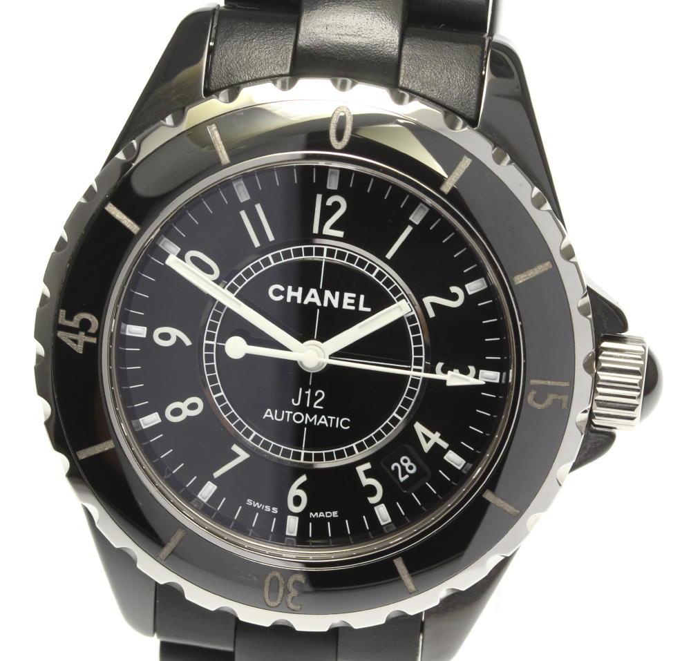 【CHANEL】シャネル J12 黒セラミック 38ミリ ラバーベルト H0684 自動巻き メンズ:CLOSER